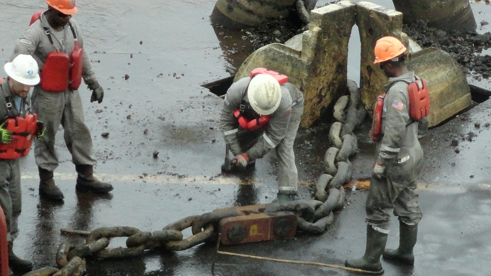 Replacement of Chain on Sanha FPSO