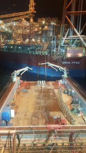 Mooring Chain Replacement on the Ehra FPSO